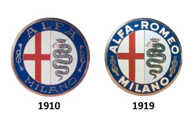 Alfa Romeo: loghi 1910 e 1919
